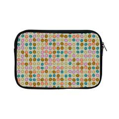 Retro Dots Pattern Apple Ipad Mini Zipper Case by LalyLauraFLM