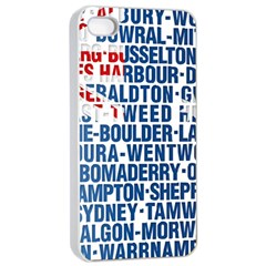 Australia Place Names Flag Apple Iphone 4/4s Seamless Case (white) by theimagezone