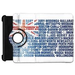Australia Place Names Flag Kindle Fire Hd Flip 360 Case by theimagezone
