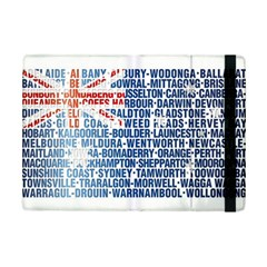 Australia Place Names Flag iPad Mini 2 Flip Cases by theimagezone