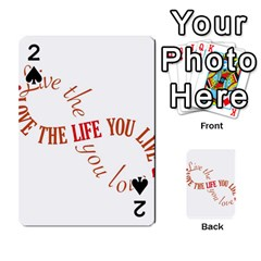 Live The Life You Love Playing Cards 54 Designs  by theimagezone