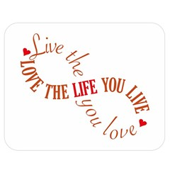 Live The Life You Love Double Sided Flano Blanket (medium)  by theimagezone