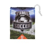 Time of soccer - Level 3 - Drawstring Pouch (Large)