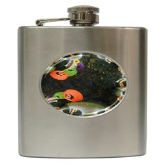 Floating Pumpkins Hip Flask (6 oz) by gothicandhalloweenstore