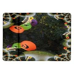 Floating Pumpkins Samsung Galaxy Tab 10.1  P7500 Flip Case by gothicandhalloweenstore