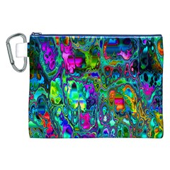 Inked Spot Fractal Art Canvas Cosmetic Bag (xxl) by TheWowFactor