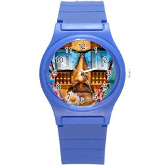 Graffiti Sunglass Art Round Plastic Sport Watch (s) by TheWowFactor