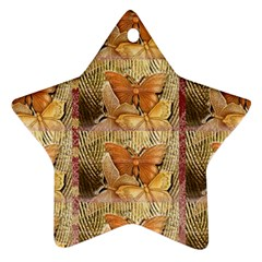 Butterflies Ornament (star)  by TheWowFactor