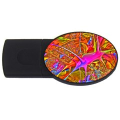 Biology 101 Abstract Usb Flash Drive Oval (4 Gb)  by TheWowFactor