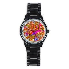Biology 101 Abstract Stainless Steel Round Watches by TheWowFactor