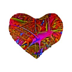 Biology 101 Abstract Standard 16  Premium Flano Heart Shape Cushions by TheWowFactor
