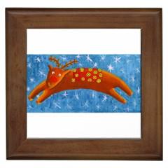 Rudolph The Reindeer Framed Tiles by julienicholls