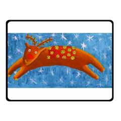 Rudolph The Reindeer Double Sided Fleece Blanket (small)  by julienicholls