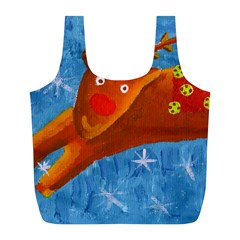 Rudolph The Reindeer Full Print Recycle Bags (l)  by julienicholls