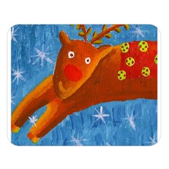 Rudolph The Reindeer Double Sided Flano Blanket (large)  by julienicholls