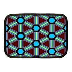 Stripes And Hexagon Pattern Netbook Case (medium) by LalyLauraFLM