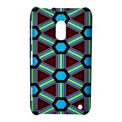 Stripes And Hexagon Pattern Nokia Lumia 620 Hardshell Case by LalyLauraFLM