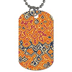 Red Blue Yellow Chaos Dog Tag (one Side) by LalyLauraFLM