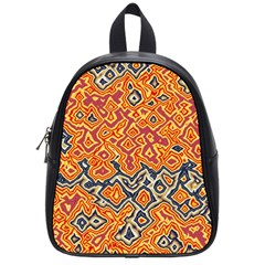 Red Blue Yellow Chaos School Bag (small) by LalyLauraFLM
