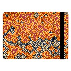 Red Blue Yellow Chaos	samsung Galaxy Tab Pro 12 2  Flip Case