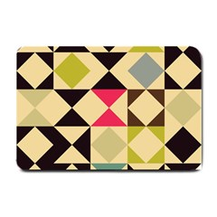 Rhombus And Triangles Pattern Small Doormat by LalyLauraFLM