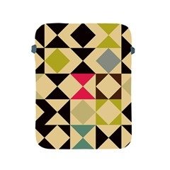 Rhombus and triangles pattern Apple iPad 2/3/4 Protective Soft Case by LalyLauraFLM