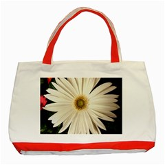Daisy Classic Tote Bag (red)  by infloence
