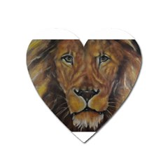 Cecil The African Lion Heart Magnet by timelessartoncanvas