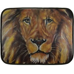 Cecil The African Lion Double Sided Fleece Blanket (mini)  by timelessartoncanvas