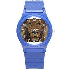 Cecil The African Lion Round Plastic Sport Watch (s) by timelessartoncanvas