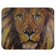 Cecil The African Lion Double Sided Flano Blanket (medium)  by timelessartoncanvas