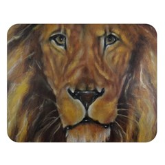 Cecil The African Lion Double Sided Flano Blanket (large)  by timelessartoncanvas