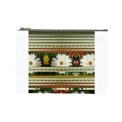 Pattern Flower  Cosmetic Bag (Large)  by infloence