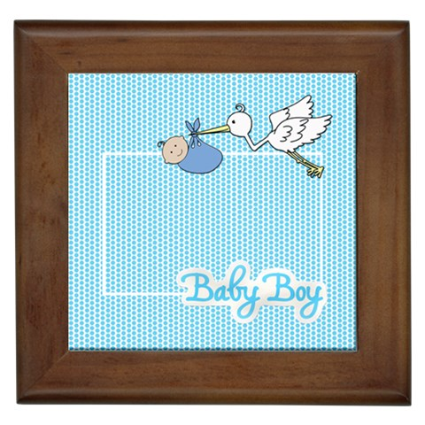 Baby Boy Framed Tile By Angela Anos   Framed Tile   Feehf8v61f75   Www Artscow Com Front