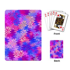 Pink And Purple Marble Waves Playing Card by KirstenStar