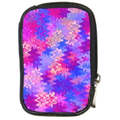 Pink And Purple Marble Waves Compact Camera Cases by KirstenStar