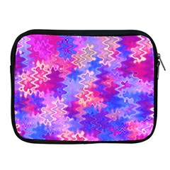 Pink And Purple Marble Waves Apple Ipad 2/3/4 Zipper Cases by KirstenStar