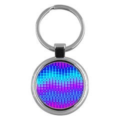 Melting Blues And Pinks Key Chains (round)  by KirstenStar