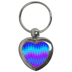 Melting Blues And Pinks Key Chains (heart)  by KirstenStar