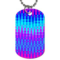Melting Blues And Pinks Dog Tag (two Sides) by KirstenStar