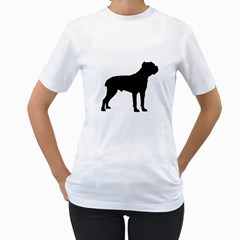 Cane Corso Silo Black Women s T-Shirt (White) (Two Sided) by TailWags