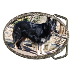 Black German Shepherd Full Belt Buckles by TailWags