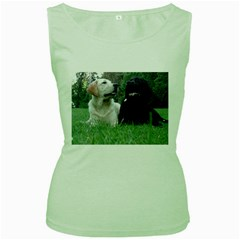 2 Labs Women s Green Tank Tops by TailWags