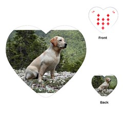 Yellow Lab Sitting Playing Cards (Heart)