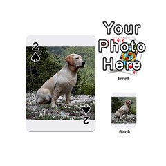 Yellow Lab Sitting Playing Cards 54 (Mini)  by TailWags