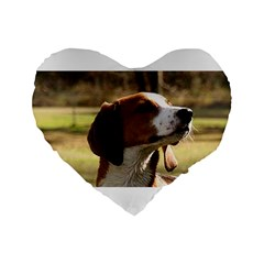 Treeing Walker Coonhound Standard 16  Premium Flano Heart Shape Cushions by TailWags