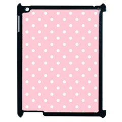 Pink Polka Dots Apple Ipad 2 Case (black) by LokisStuffnMore