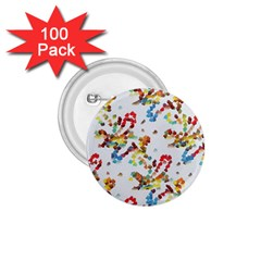 Colorful Paint Strokes 1 75  Button (100 Pack)  by LalyLauraFLM