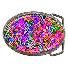 Swirly Twirly Colors Belt Buckles by KirstenStar