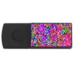 Swirly Twirly Colors USB Flash Drive Rectangular (2 GB)  by KirstenStar